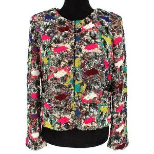 Alice + Olivia Ellie Sequin Embellished Jacket L
